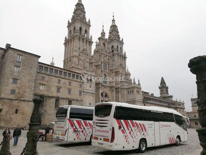 Autobuses en Santiago