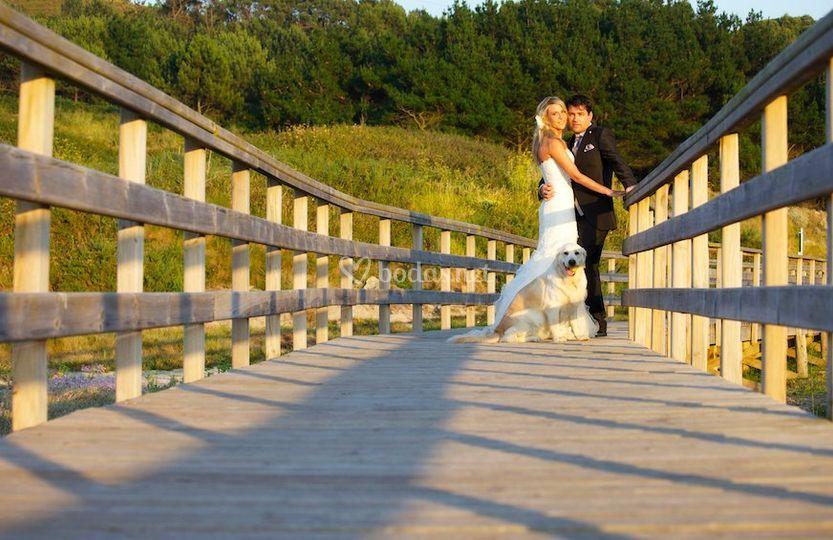 Los tres en el puente