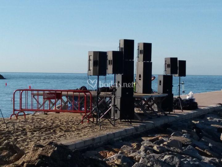 Montaje playa 40 principales