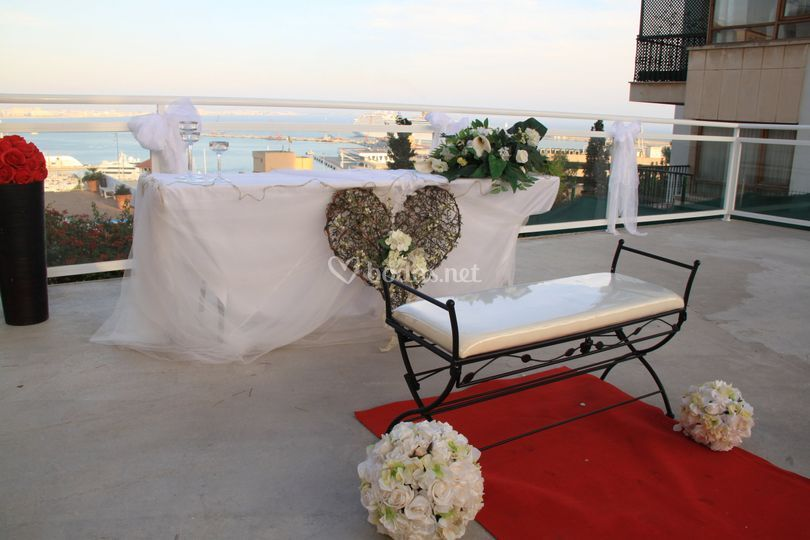 Ceremonia en una de las terrazas