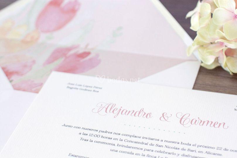 Invitación - Aquarelle