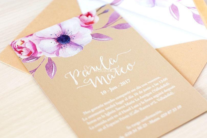 Invitación - Bouquet