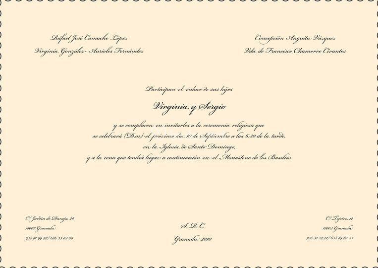 Ejemplo Invitación clásica