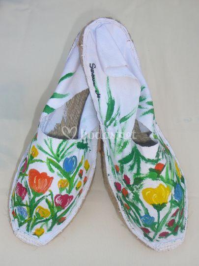 Alpargatas florales