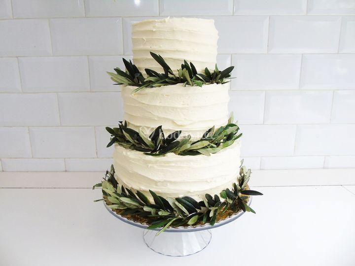 Tarta de boda olivos