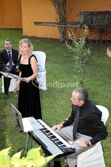 Actuación en una boda