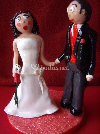 Muñecos tarta de bodas