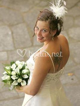 La novia y su bouquet