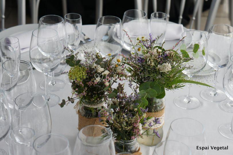 Flores mesa invitados