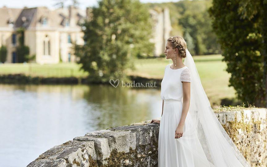 Vestido silueta romántica