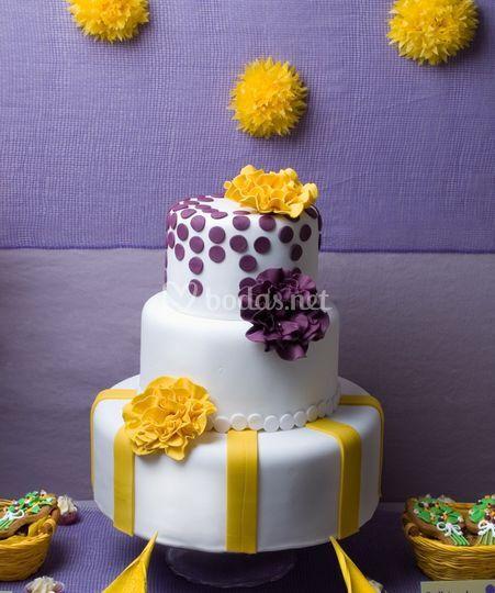Tarta de flores