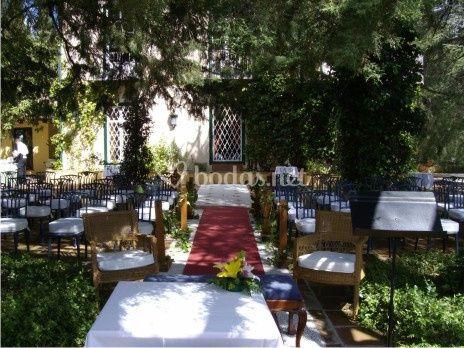 Jardín celebración boda