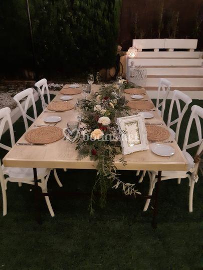 Mesas para el banquete