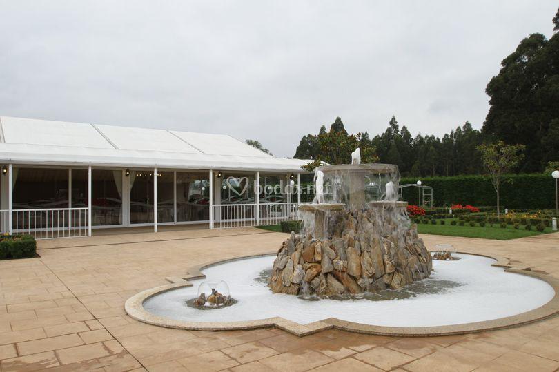 Fuente jardín