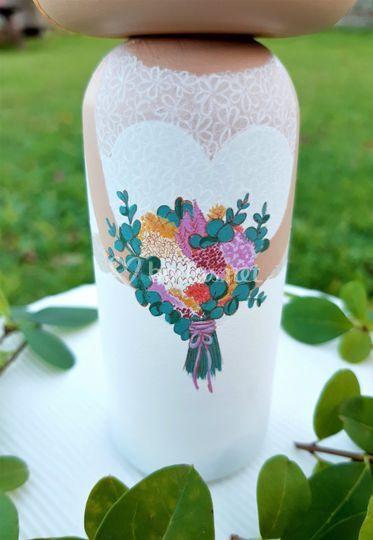 Ramo de la novia pintado a mano