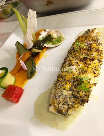Verduritas con pescado