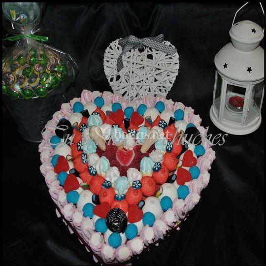Tarta con lollypops