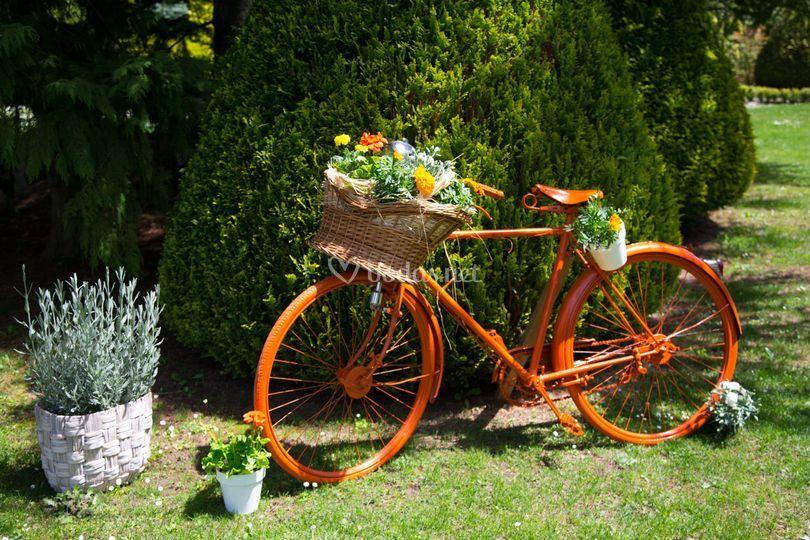 Bicicleta decorada