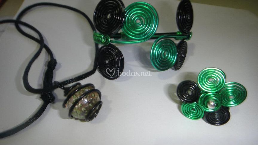 Conjunto en verde y negro