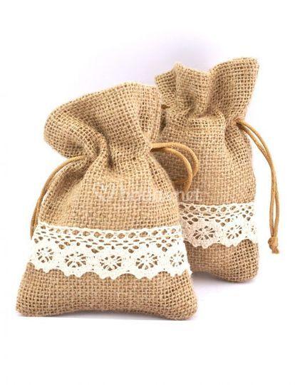 Bolsa saco de yute