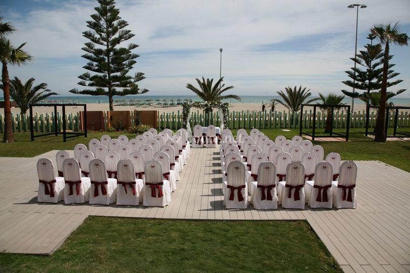 Montaje de una boda