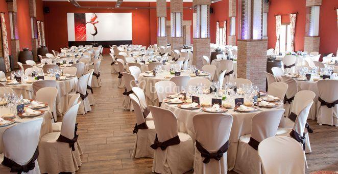 Espacio para el banquete de boda