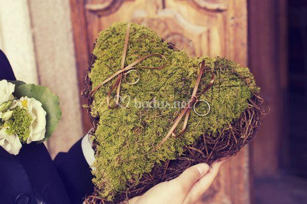 Cojín en forma de corazón