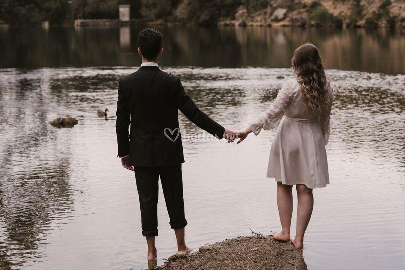 Sesión de boda en Navacerrada