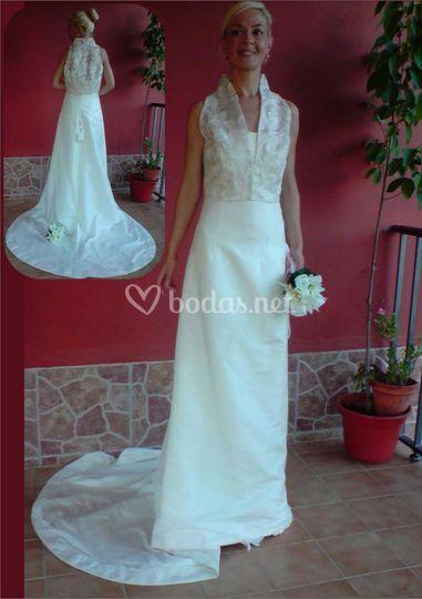 Vestido de novia con chaqueta