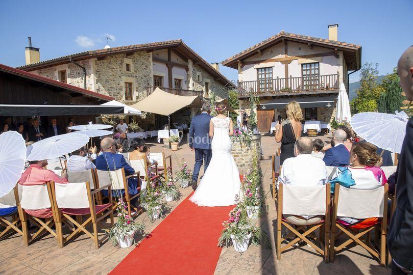 Ceremonia con invitados
