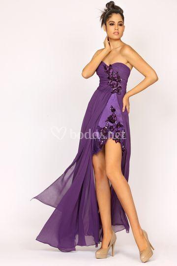 64c2018fd Just Novias Vestido corto Vestido corto Piernas al aire