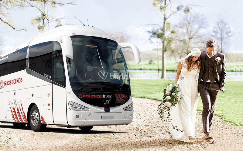Autobús para invitados de boda