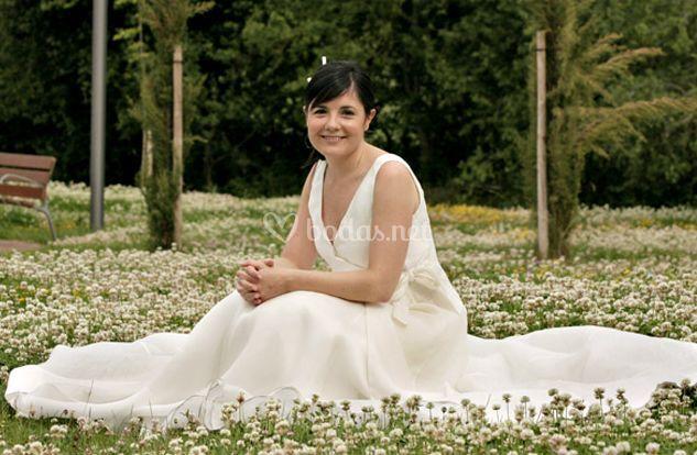 La novia en el parque