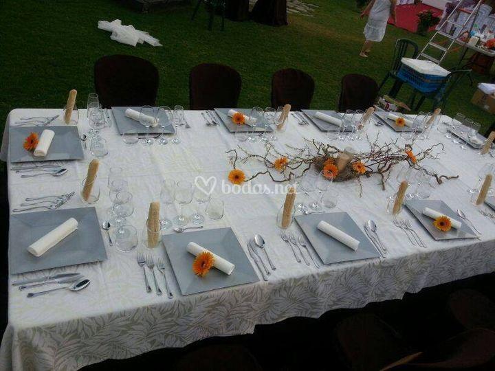 Box mesa de boda