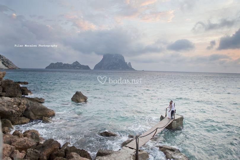 Foto ante el mar