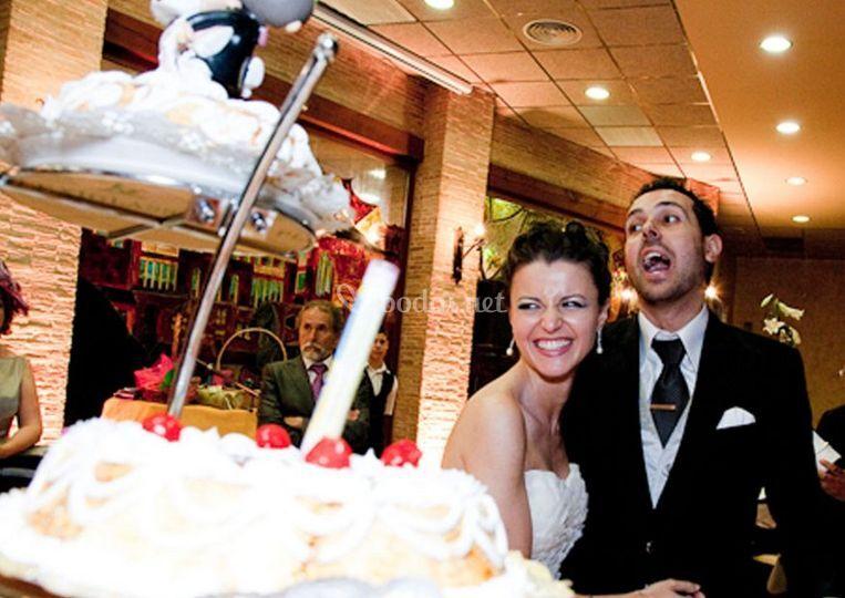 La tarta de boda