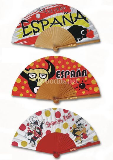 Abanicos con la marca España