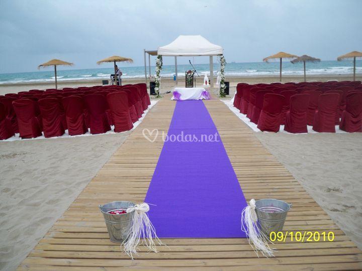 Ceremonia Civil en la playa