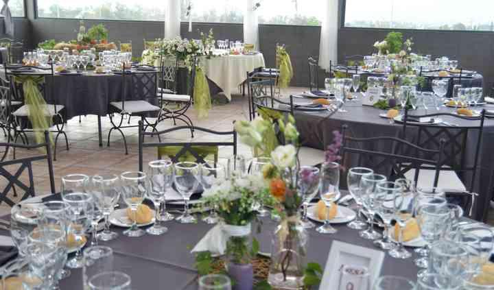 Banquete de boda con vistas