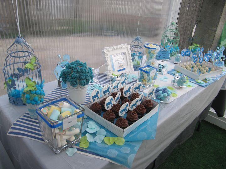 Candy bar para bautizo