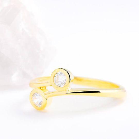 Sortija oro y diamant