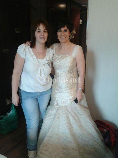 Con la novia en el hotel