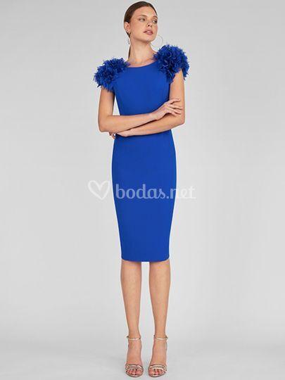 Vestido corto azulón