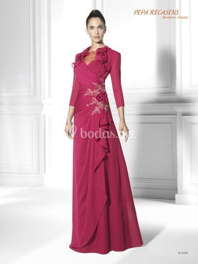 54d9ca530 Vestido de madrina PepaRecasens de Pepa Recasens