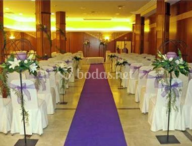 Arreglos florales para boda civil
