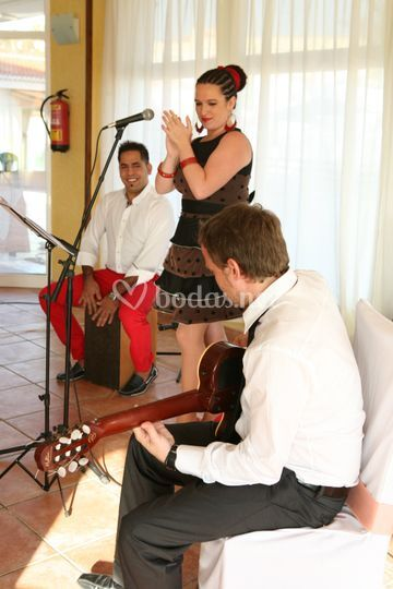 Con cajón flamenco
