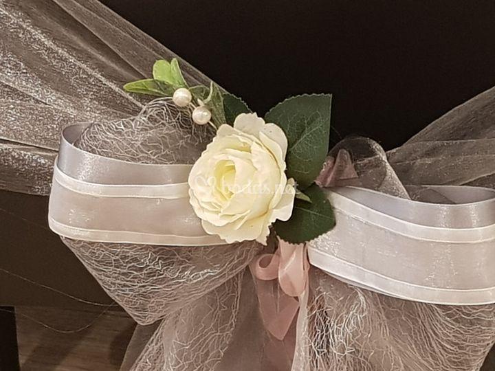 Detalle silla de la novia