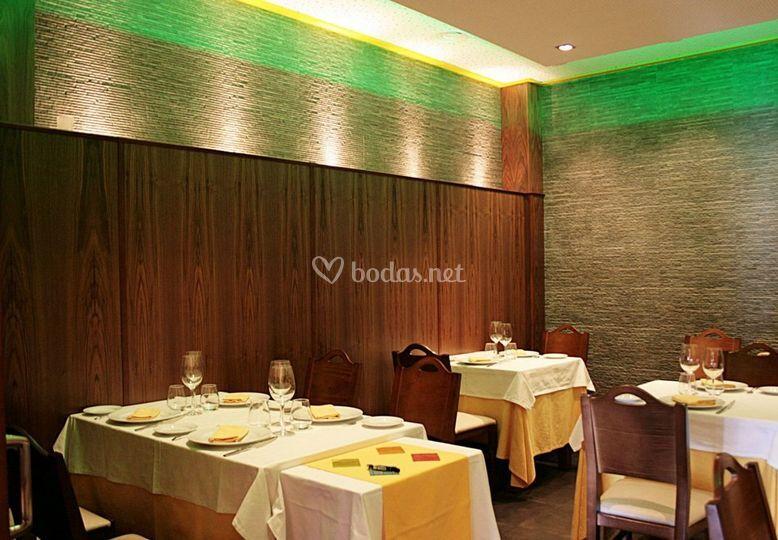 Salón privado del restaurante