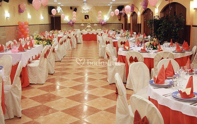 Salón para el banquete de boda