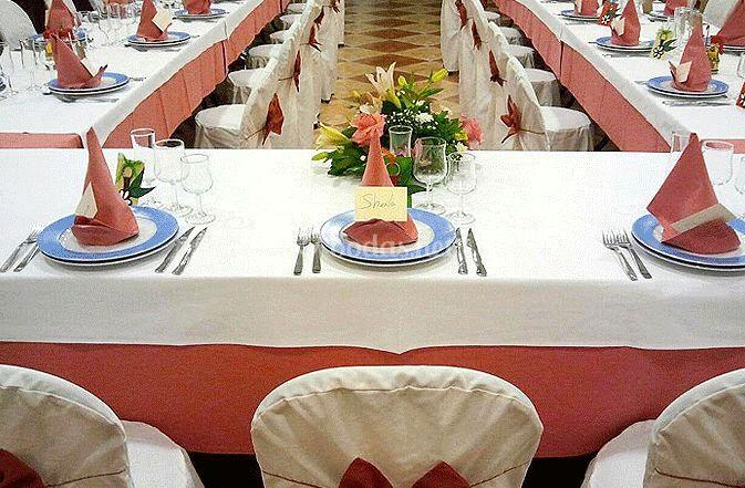 Diferentes montajes de las mesas